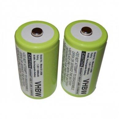 Baterija (akumuliatorius) radijo ryšio imtuvui 2x Mono D R20 1,2V 3000mAh