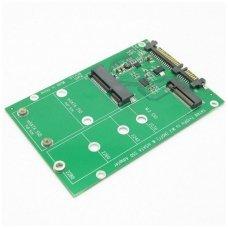 Adapteris M.2 NGFF & mSATA 2-in-1 SSD į SATA III 3