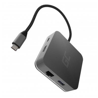 GC Jungčių šakoduvas (adapteris) 6in1 (USB 3.0 HDMI Ethernet USB-C) skirtas Apple MacBook, Dell XPS, Asus ZenBook ir kitiems