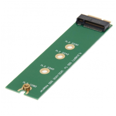 Adapteris M.2 NGFF SSD į 18 kontaktų SSD jungtį Asus Zenbook UX31 UX21 serijai