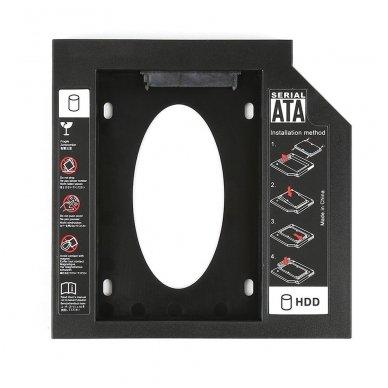 "Adapteris 12.7mm storio ODD/DVD į 2.5"" HDD/SSD SATA 3.0"