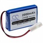 Baterija (akumuliatorius) RC modeliams, žaislams Brookstone Rover Revolution, 7.4V, Li-Polymer, 2000mAh
