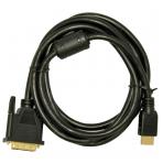 Kabelis HDMI / DVI 24+1 1.8m