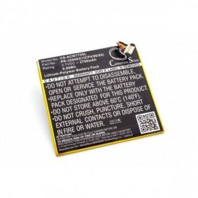 Baterija (akumuliatorius) planšetiniam kompiuteriui Acer Iconia One B1-770 3.7 V 2700mAh