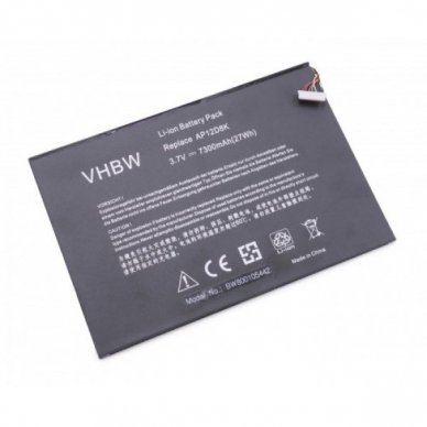 Baterija (akumuliatorius) planšetiniam kompiuteriui Acer Iconia Tab W510 3,7V 7300mAh