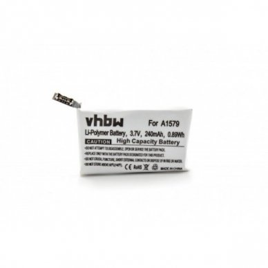 Baterija (akumuliatorius) išmaniesiems laikrodžiams Apple Watch 1 42mm A1579 3.7 V 240mAh