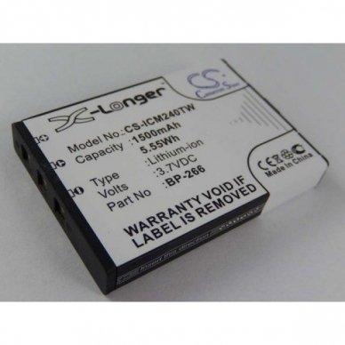 Baterija (akumuliatorius) radijo ryšio stotelei ICOM BP-266 3.7V 1500mAh Li-Ion