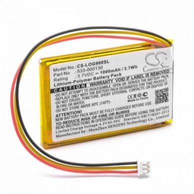 Baterija (akumuliatorius) pelei Logitech G403, G900 3.7 V 1000mAh