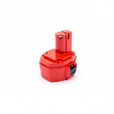 Baterija (akumuliatorius) elektriniam įrankiui Makita 1051D, NI-MH, 14.4V, 1500mAh