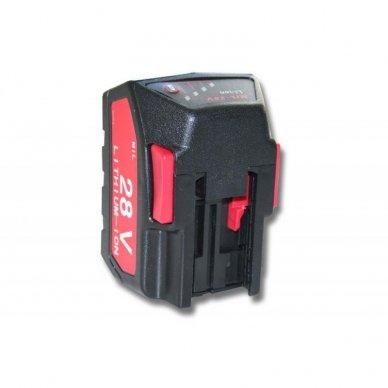 Baterija (akumuliatorius) elektriniam įrankiui Milwaukee V28 28V, Li-Ion, 2000mAh 2