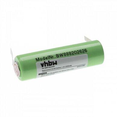 Baterija (akumuliatorius) plaukų kirpimo mašinėlei Panasonic ER140, ER141 1.2V 2500mAh