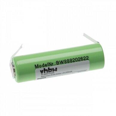 Baterija (akumuliatorius) plaukų, barzdos kirpimo mašinėlei Panasonic ER200, ER210 1.2V 2500mAh