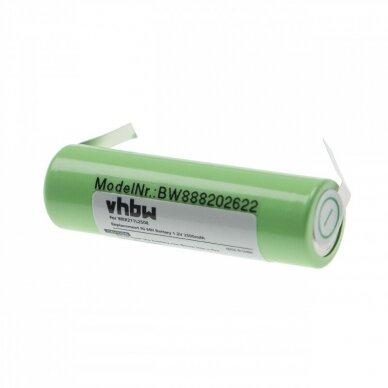 Baterija (akumuliatorius) plaukų, barzdos kirpimo mašinėlei Panasonic ER200, ER210 1.2V 2500mAh 2