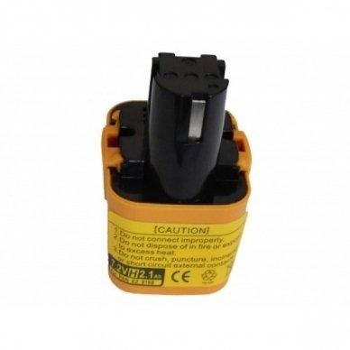 Baterija (akumuliatorius) elektriniam įrankiui Panasonic EY3653 7.2 V, NI-MH, 2100mAh