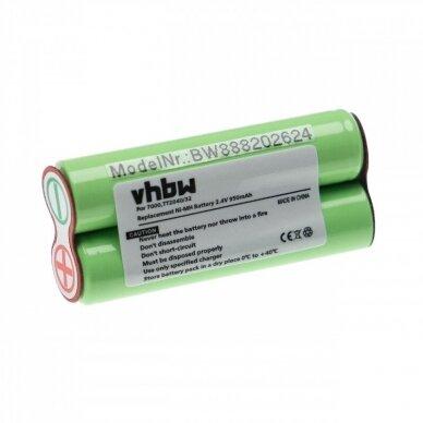 Baterija (akumuliatorius) kūno skustuvui Philips Bodygroom Serija 7000, 3000 2.4V 950mAh