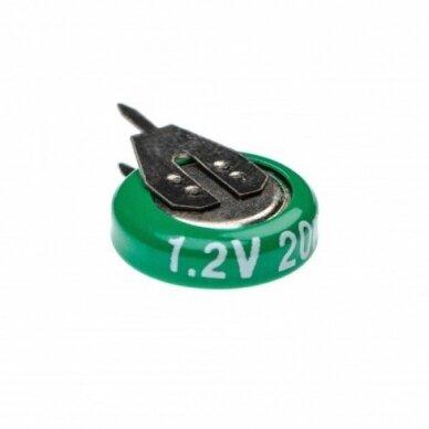 Baterija tipas 1-V15H (1 celė) 2 kontaktai, Ni-MH, 1.2V, 20mAh