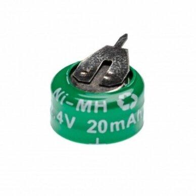Baterija tipas 2-V15H (2 celės) 2 kontaktai, Ni-MH, 2.4V, 20mAh
