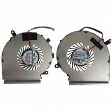 Aušintuvas (ventiliatorius) MSI GE62 GE72 GL62 GL72 PE60 PE70 GP72 GP62 komplektas (GPU ir CPU - vaizdo plokštės ir procesoriaus)