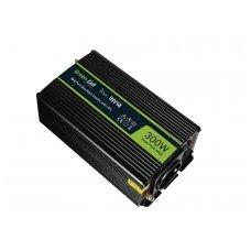 Automobilinis įtampos keitiklis GC 24V į 230V, 300W/600W pilna sinusoidė