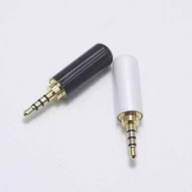 Audio kištukas ausinėms 2.5mm stereo lituojamas 3 kontaktai