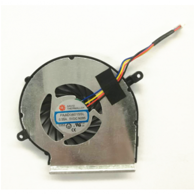 Aušintuvas (ventiliatorius) MSI GE72 GE62 PE60 PE70 GL62 GL72 MS-16J3 GE62VR GP62MVR MS-16J8 MS-16JB PAAD06015SL (4 kontaktai, GPU - vaizdo plokštės)