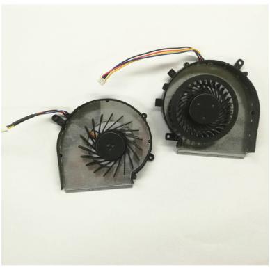 Aušintuvas (ventiliatorius) MSI GE72 GE62 PE60 PE70 GL62 GL72 MS-16J3 GE62VR GP62MVR MS-16J8 MS-16JB PAAD06015SL (4 kontaktai, GPU ir CPU - vaizdo plokštės ir procesoriaus) 2