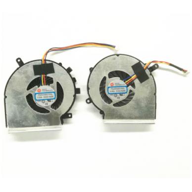 Aušintuvas (ventiliatorius) MSI GE72 GE62 PE60 PE70 GL62 GL72 MS-16J3 GE62VR GP62MVR MS-16J8 MS-16JB PAAD06015SL (4 kontaktai, GPU ir CPU - vaizdo plokštės ir procesoriaus)