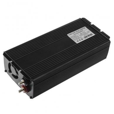 Automobilinis įtampos keitiklis GC 12V į 230V tikra sinusoidė 500W 3