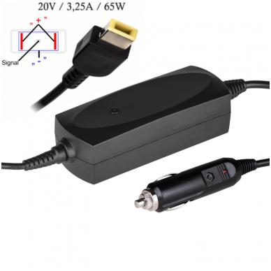 Automobilinis maitinimo adapteris (kroviklis) IBM LENOVO 90W - 20V/4.5A (10.5*4.0mm SQUARE)