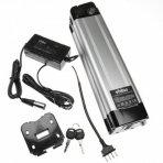 Baterija (akumuliatorius) elektriniam dviračiui Li-Ion, 24V, 13.2Ah (tvirtinama prie sėdynės vamzdžio, + kroviklis)