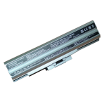 Baterija (akumuliatorius) SONY VGN-AW VGN-BZ VGN-CS VGN-FW VGN-NS VGN-NW (sidabrinė, 6600mAh)