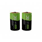 "Baterija (akumulitorius) 2x D R20 HR20 Ni-MH 1.2V 8000mAh (įkraunama, ""krona"")"