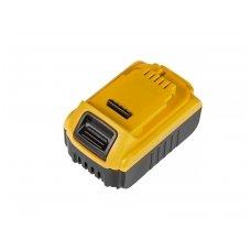 Baterija (akumuliatorius) GC elektriniam įrankiui DeWalt DCB140 DCB141 DCB142 DCB140-XJ DCB141-XJ 14.4V 3Ah