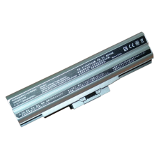 Baterija (akumuliatorius) SONY VGN-AW VGN-BZ VGN-CS VGN-FW VGN-NS VGN-NW (SILVER, 6600mAh)