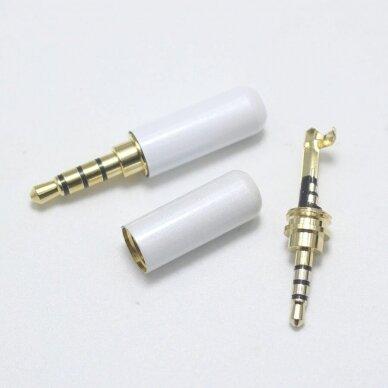Audio kištukas ausinėms 2.5mm stereo lituojamas 3 kontaktai 2