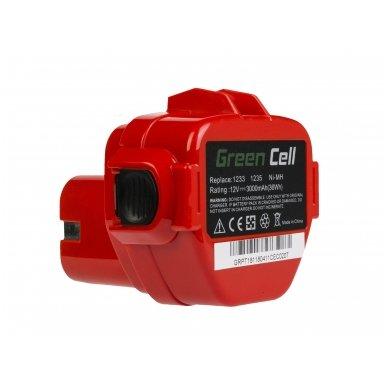 Baterija (akumuliatorius) GC elektriniam įrankiui Makita 1050D 4191D 6270D 6271D 6316D 6835D 8280D 8413D 8434D 3000mAh 12V 4
