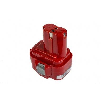 Baterija (akumuliatorius) GC elektriniam įrankiui Makita 6207D 6222D 6261D 6503D 6909D 6991D 9120 9122 9134 9135 PA09 3000mAh 9.6V