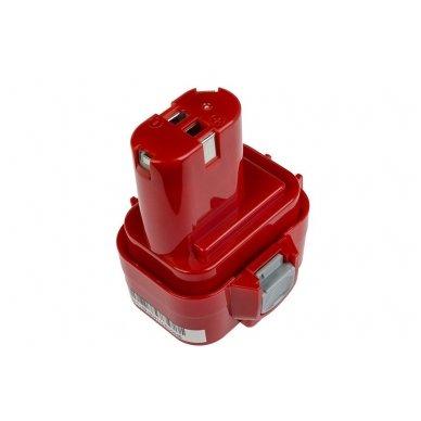 Baterija (akumuliatorius) GC elektriniam įrankiui Makita 6207D 6222D 6261D 6503D 6909D 6991D 9120 9122 9134 9135 PA09 3000mAh 9.6V 2