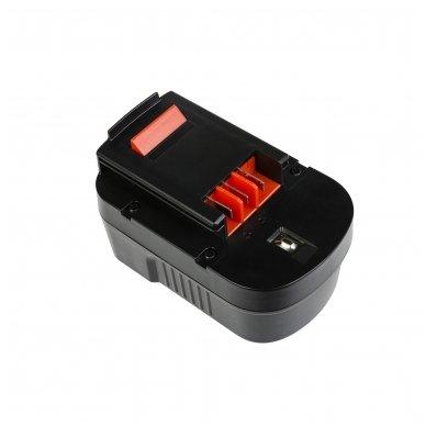 Baterija (akumuliatorius) GC elektriniam įrankiui Black&Decker CP14K EPC14 EPC14CA HP142K XTC143 Firestorm FS1400 FS14PS PS142K A14 HPB14 FSB14 3000mAh 14.4V