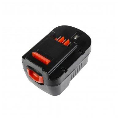 Baterija (akumuliatorius) GC elektriniam įrankiui Black&Decker CP14K EPC14 EPC14CA HP142K XTC143 Firestorm FS1400 FS14PS PS142K A14 HPB14 FSB14 3000mAh 14.4V 2