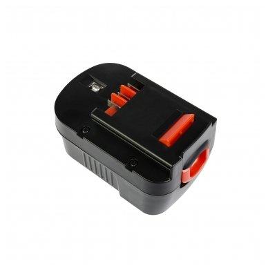 Baterija (akumuliatorius) GC elektriniam įrankiui Black&Decker CP14K EPC14 EPC14CA HP142K XTC143 Firestorm FS1400 FS14PS PS142K A14 HPB14 FSB14 3000mAh 14.4V 3