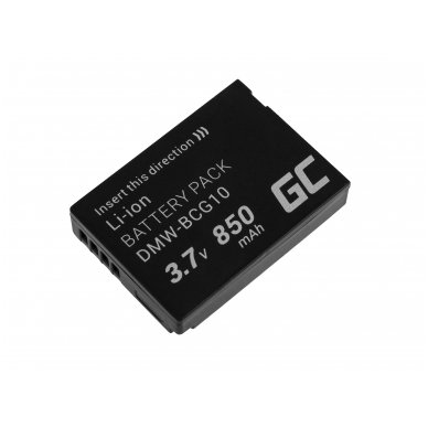 Skaitmeninės kameros baterija (akumuliatorius) GC skirta Panasonic Lumix DMC-TZ10 DMC-TZ20 DMC-TZ30 DMC-ZS5 DMC-ZS10 DMC-ZX1 DMC-ZX3 3.7V 850mAh 2