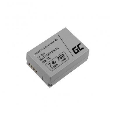 Baterija (akumuliatorius) GC fotoaparatui Canon PowerShot G10, G11, G12, SX30 IS NB-7L NB7L 7.4V 750mAh 2