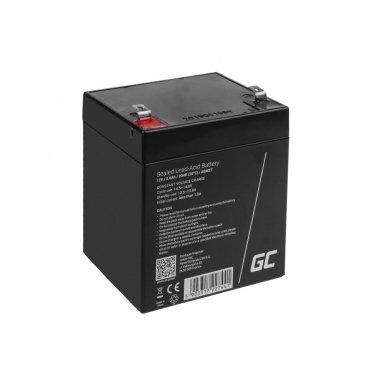 Baterija (akumuliatorius) GC UPS AGM GC (universali) 12V 5Ah