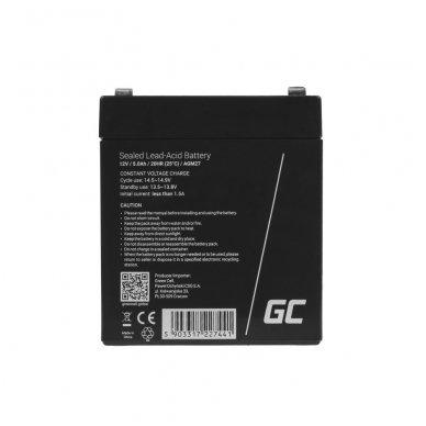 Baterija (akumuliatorius) GC UPS AGM GC (universali) 12V 5Ah 2