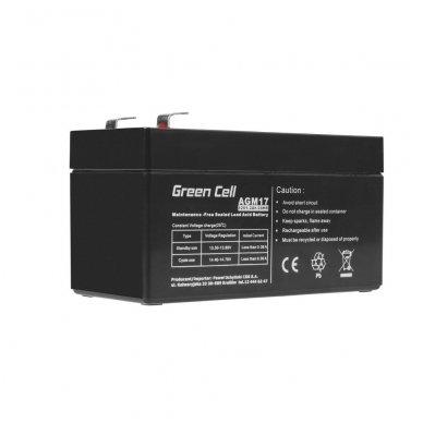 Baterija (akumuliatorius) GC UPS (AGM; VRLA) 12V 1.2Ah