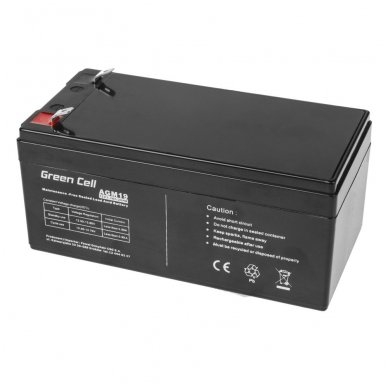 Baterija (akumuliatorius) GC UPS (AGM; VRLA) 12V 3.3Ah