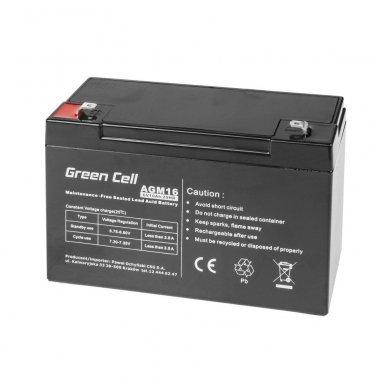 Baterija (akumuliatorius) GC UPS (AGM; VRLA) 6V 10Ah