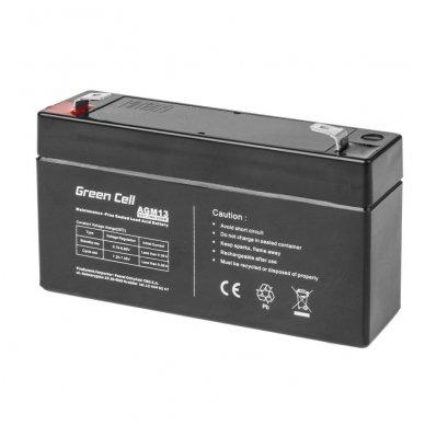 Baterija (akumuliatorius) GC UPS (AGM; VRLA) 6V 1.3Ah