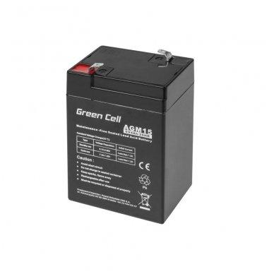Baterija (akumuliatorius) GC UPS (AGM; VRLA) 6V 4Ah